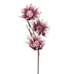 L'Oca Nera 1P103 Magnolia Liliflora rosa in Eva-POLIETILENE ESPANSO 85h verde Fiore Artificiale