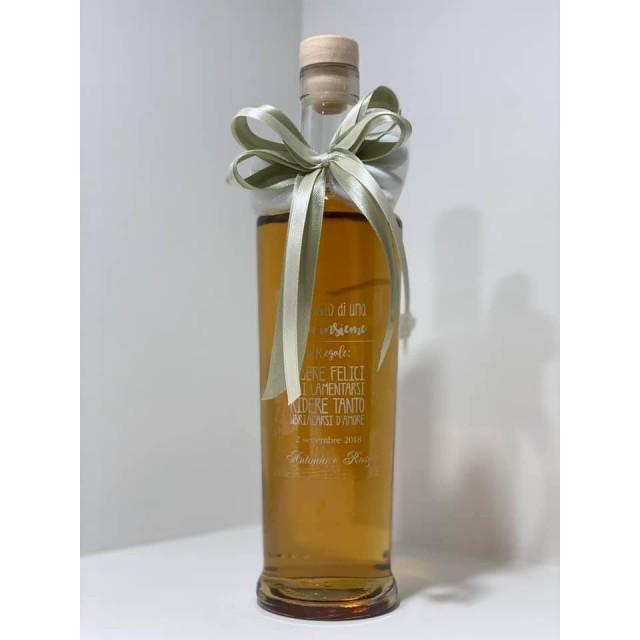 Bomboniera Bottiglia Liquore 50cl Lunga completa di Scatola e confezione personalizzabile matrimonio promessa comunione laurea