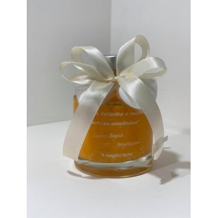 Bomboniera Bottiglia Liquore 20cl Tonda completa di confezione confetti personalizzabile matrimonio comunione laurea