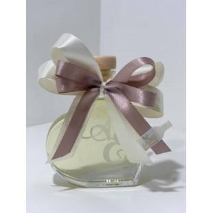 Bomboniera Bottiglia Liquore 5cl Cuore completa di confezione confetti personalizzabile matrimonio comunione laurea