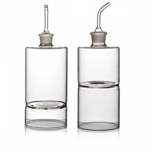 Ichendorf Aria Oliera / Acetiera in vetro Bomboniera Completa di confezione matrimonio comunione laurea battesimo