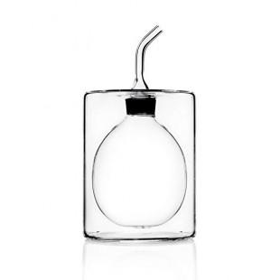 Ichendorf Cilindro Oliera / Acetiera in vetro Bomboniera Completa di confezione matrimonio comunione laurea battesimo