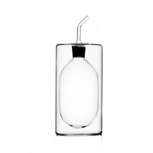 Ichendorf Cilindro Oliera / Acetiera in vetro alta Bomboniera Completa di confezione matrimonio comunione laurea battesimo