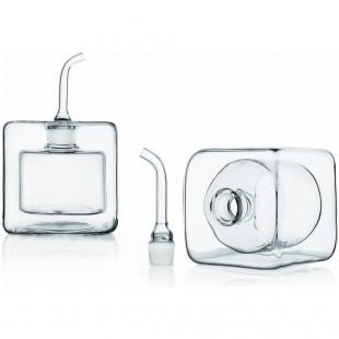 Ichendorf Cube Oliera / Acetiera in vetro quadrata Bomboniera Completa di confezione matrimonio comunione laurea battesimo