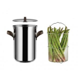 Alessi Pentola per asparagi con cestello e coperchio Edo
