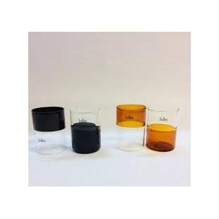 Livellara Mezzo Pieno e Mezzo Vuoto Set 6 bicchieri in vetro