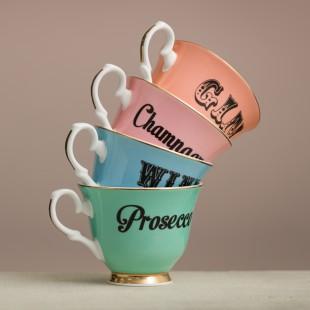 Yvonne Ellen Tazza tè con piattino in porcellana