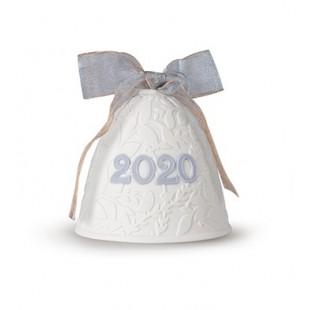 Lladrò 2020 CAMPANA DI NATALE in porcellana azzurro polvere