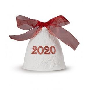 Lladrò 2020 CAMPANA DI NATALE (RE-DECO ROSSO) in porcellana rosso