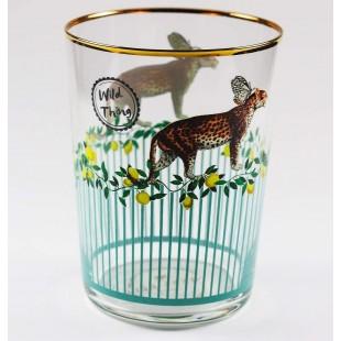 Yvonne Ellen Set 6 bicchieri in vetro bibita Ghepardo Cheetah