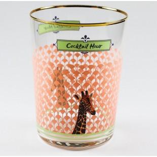 Yvonne Ellen Set 6 bicchieri in vetro bibita Giraffe giraffa