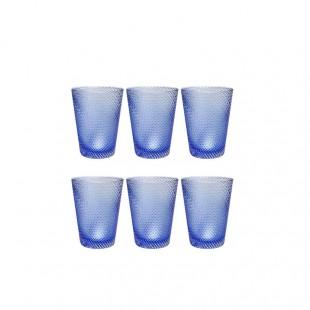 Livellara Set 6 Bicchieri Tumbler Twister in vetro