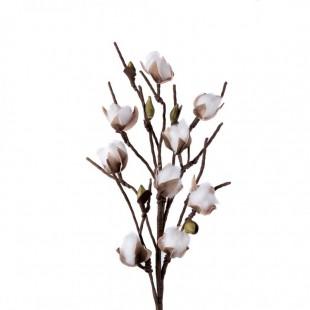 L'Oca Nera 1P149 Fiore Del Cotone in Eva-POLIETILENE ESPANSO  Fiore Artificiale