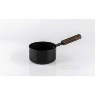 KnIndustrie Black Casseruola 1 Manico Ø cm 16 | NE10216 Nera