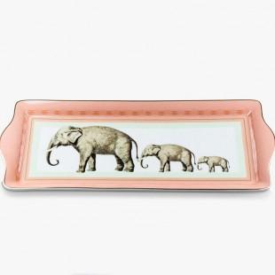 Yvonne Ellen Vassoio rettangolare in porcellana Elefanti