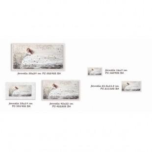 Cartapietra Quadro Tra le tue braccia bianco 42 x 22 cm Bianco