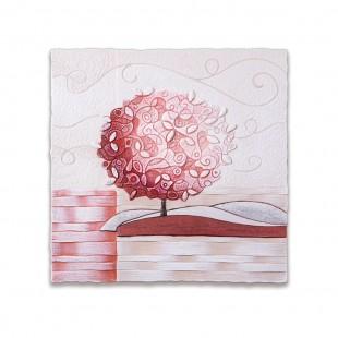 Cartapietra Quadro Formella Un Nuovo Orizzonte Corallo 40 x 40 cm 1104116cr