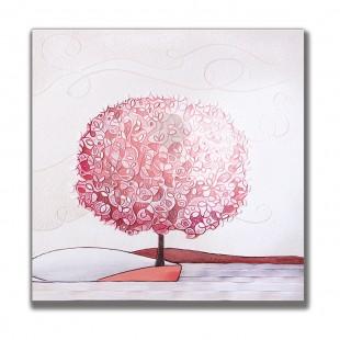Cartapietra Quadro Formella Un Nuovo Orizzonte Corallo 60 x 60 cm 1106116cr