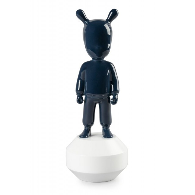 Lladrò THE Dark Blue GUEST-LITTLE statua in porcellana