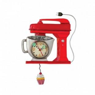 Allen Designs Vintage Mixer Red Orologio da parete a pendolo rosso