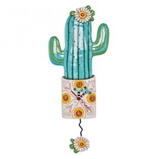 Allen Designs Desert Bloom Cactus Orologio da parete a pendolo verde