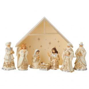 Jim Shore Heartwood Creek Mini Nativity Figurine Presepe 9 pezzi