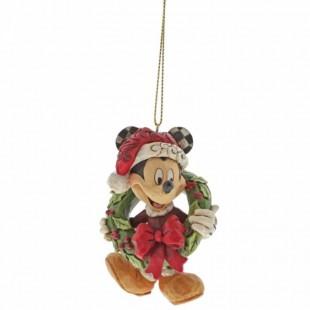 Jim Shore DISNEY Mickey Mouse Ornament Addobbo albero di Natale