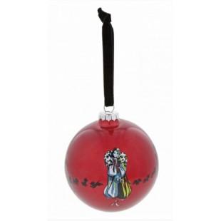 DISNEY Enchanting Cruella Devil Bauble Addobbo albero di Natale Sfera in vetro Credelia Demon La carica dei 101