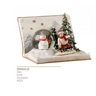L'Oca Nera Gioiosi Pensieri Libro con Luce LED Natale 1XM543.13