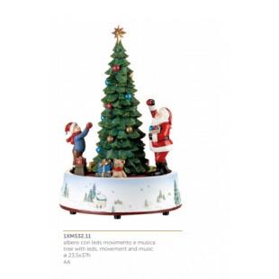 L'Oca Nera Festa Viennese Albero con leds movimento e musica Natale 1XM532.11