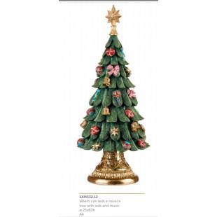 L'Oca Nera Festa Viennese Albero con leds e musica Natale 1XM532.12