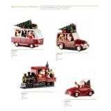 L'Oca Nera Santa Claus & Friends! Decorazioni con luci leds Pulmino auto trenino cabrio Natale 1XM528