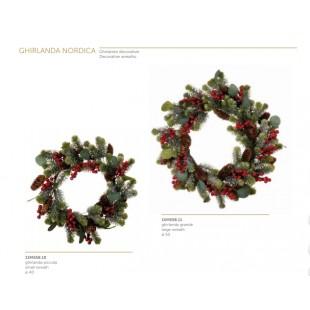 L'Oca Nera Ghirlanda Nordica con pino e bacche Natale fuoriporta 1XM558