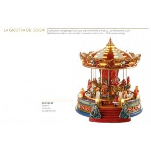 L'Oca Nera La Giostra dei sogni Giostra con luce led movimento e musica Natale 1XM504.10