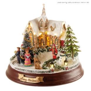 L'Oca Nera Le Case della felicità Villaggio luce led movimento e musica Natale 1XM502.10