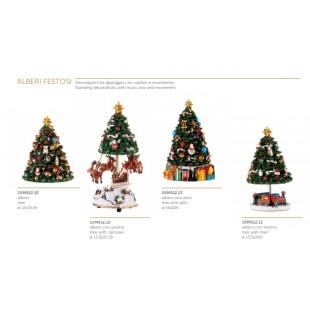 L'Oca Nera Alberi Festosi Decorazioni con carillon e movimento Natale 1XM512