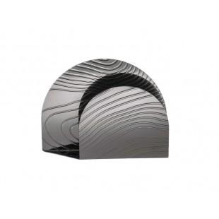 Alessi Veneer portatovaglioli PU08 in acciaio con decoro a rilievo