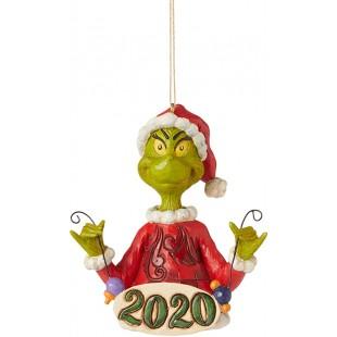 Jim Shore DISNEY Grinch Holding Ornament Addobbo albero di Natale
