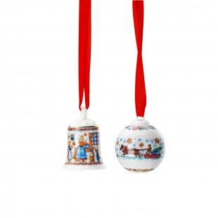 Hutschenreuther Panetteria di Natale 2020 Set mini campanella e sfera in porcellana