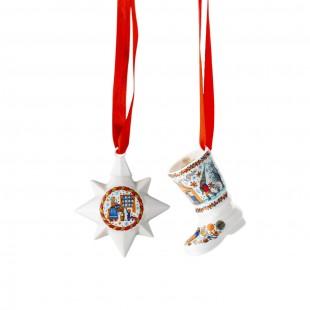 Hutschenreuther Panetteria di Natale 2020 Set mini stella e stivale in porcellana