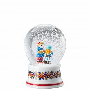 Hutschenreuther Panetteria di Natale 2020 Palla di neve Boule de Neige in porcellana
