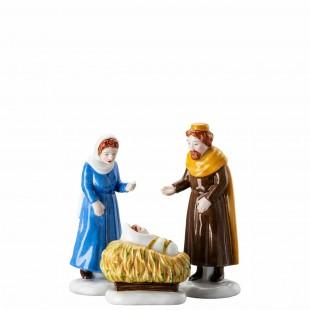 Hutschenreuther Figure di Natale 2020 Set Maria e Giuseppe con bambino in porcellana