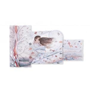 Cartapietra Quadro trittico tra le tue braccia 100 x 40 corallo rosa