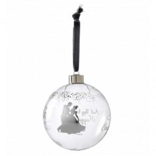 DISNEY Enchanting Cinderella Bauble Addobbo albero di Natale Sfera in vetro Cenerentola