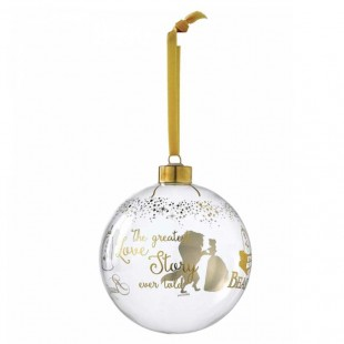 DISNEY Enchanting Belle Bauble Addobbo albero di Natale Sfera in vetro La Bella e la Bestia