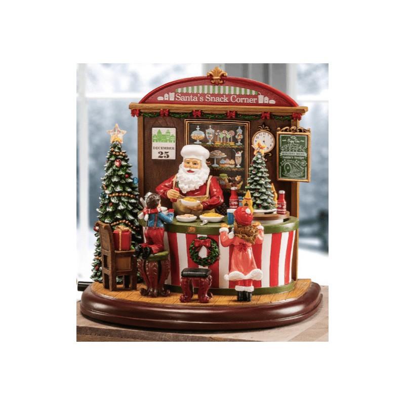 Babbo Natale Musicale.Lamart Santa S Snack Corner Carillon Musicale Babbo Natale Lagru