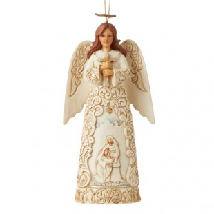 Jim Shore Heartwood Creek Silver and Gold Angel ornament