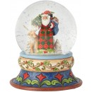 Jim Shore Heartwood Creek santa with deer snowglobe Snow Ball 13 cm Figurine Babbo Natale Buole de Neige