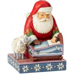 Jim Shore Heartwood Creek Santa with Reindeer scene 12Th annual scene Figurine Babbo Natale
