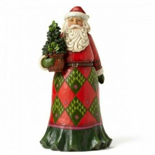 Jim Shore Heartwood Creek Santa with Evergreen Figurine Babbo Natale
